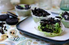 Grasshopper Cookie Cupcakes