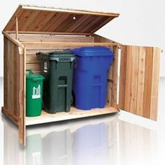 Wooden Trash Garbage Storage Bins From Bearicuda
