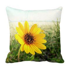 Yellow Beach Sunflower Pillow: http://www.beachblissdesigns.com/2015/06/beach-sunflower-pillow.html $30.95