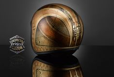 """Custom helmet """"NEW VINTAGE no.1"""" cracked gold version by www.unexpected-custom.com"""