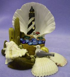 Scallop Shell Crafts | craft shells between. Spray with clear acrylic sealer to shine.