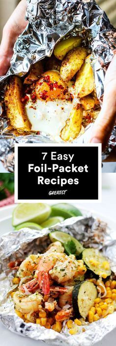 Camping Recipes Easy Outdoor Cooking Foil Packets New Ideas Tin Foil Dinners, Foil Packet Dinners, Foil Pack Meals, Foil Packets, Hobo Dinners, Camping Food Make Ahead, Camping Meals, Camping Cooking, Cooking Games
