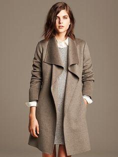 Draped Wool Coat