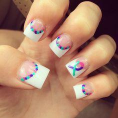 Thyroid cancer awareness nails!!!