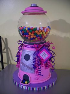 Pink Gumball Machine Cake!! by Cakes By Jen, via Flickr