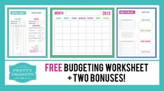 Budgeting Tips + Free Budgeting Worksheet | Pretty Presets for Lightroom