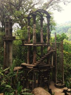 "Located in the jungles of Mexico, Las Pozas is a Surrealist's dream come true. Part Eden, sculpture garden, secret city, and something else entirely, the ""Pools"" were created by Edward James, an eccentric British aristocrat, poet, and patron of Surrealist art."