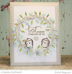 Lovely wreath and color combo from Nichol McGouirk