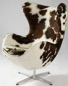 Pony Hide Egg Chair  Could look cute with right decor!