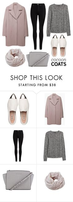 """""""Hot Trend: Cocoon Coats"""" by miss-valeria ❤ liked on Polyvore featuring Miu Miu, Maison Margiela, Dr. Denim, MANGO, MICHAEL Michael Kors, Humble Chic, women's clothing, women's fashion, women and female"""