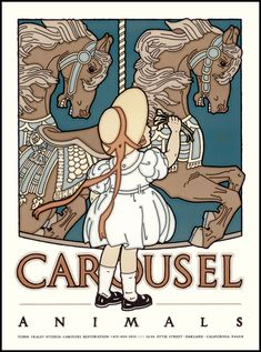 carousel art pictures   108) CAROUSEL ANIMALS :