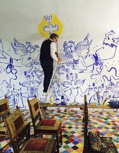 Mural Art, Wall Murals, Art Et Illustration, Aesthetic Room Decor, Creative Inspiration, Art Inspo, Painting & Drawing, Castelbajac, Cool Art