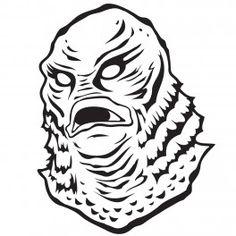 Creature From The Black Lagoon Pumpkin Stencil