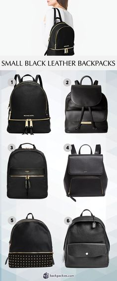 Our favorite small black leather backpacks. These leather mini backpacks for women are stylish and sleek. - Read more: https://backpackies.com/blog/6-small-black-leather-backpacks-we-love