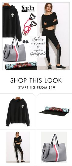 """""""Black Mesh Leggings - Shein Contest"""" by biange ❤ liked on Polyvore featuring Mara Hoffman and Samsung"""
