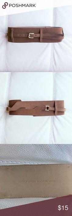 Talbots obi leather belt NWOT. Never worn. Size xs but fits like xs-s. Talbots Accessories Belts