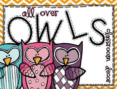 What the Teacher Wants!: All Over Owls {Classroom Decor}  Great beginning of the year pack!!