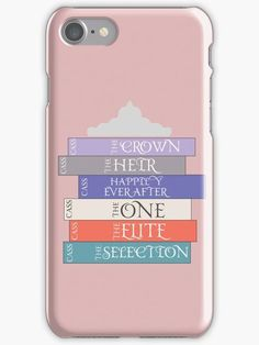 """""""The Selection Series Spines"""" iPhone Cases & Covers by amandakoz The Selection Kiera Cass, The Selection Book, I Love Books, Good Books, Kiera Cass Books, Maxon Schreave, Any Book, Book Fandoms, True Friends"""