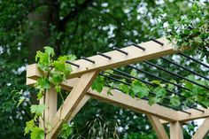 Best plants for a pergola # for plants . - Best plants for a pergola # Climbing plants - Diy Pergola, Small Pergola, Pergola Canopy, Pergola With Roof, Wooden Pergola, Outdoor Pergola, Pergola Shade, Pergola Plans, Small Patio