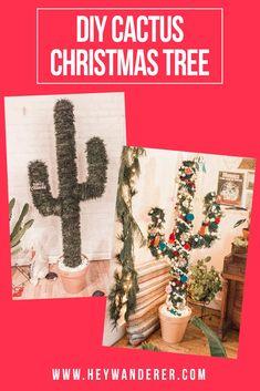 DIY: Cactus Christmas Tree - My dream modern Cowboy Christmas, Christmas Ad, Diy Christmas Tree, Modern Christmas, Christmas Projects, Christmas Ideas, Christmas Party Themes, Christmas Decorations, Holiday Decor