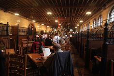"""Inside of """"The Stables"""" restaurant at the Biltmore Estate in Ashville, North Carolina. The food is great too!"""
