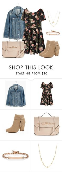 """""""Untitled #10"""" by roxeyturner ❤ liked on Polyvore featuring Madewell, River Island, Hoorsenbuhs, David Yurman and Chloé"""
