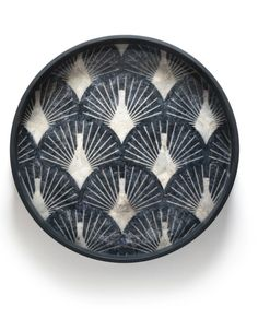 Designer-looking tray, and a great size at diameter. Love the blue tones and the shell effect. Blue Pinctada tray by AMPM at La Redoute (affiliate). Blue Tones, Sea Shells, Home Accessories, Decorative Bowls, Tray, Am Pm, Unique, Products, Interiors