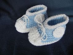 Baby High Top Booties READY to SHIP Free Shipping by mccdingbat, $18.00