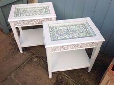 Shelled side tables