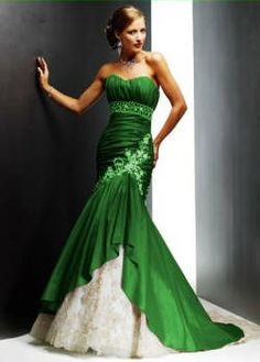 green wedding dress | hunter-lime-green-and-white-wedding-dresses-gowns-dress-strapless-blue ...