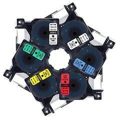 Markurlife Label Tapes for Dymo D1 40913 40910 40916 40917 40918, 40919, 9mm x 7m, 6-Pack