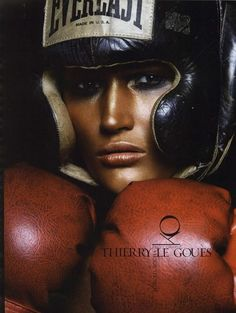 boxing - make up  Shiny/sweaty Dark eyes natural skin