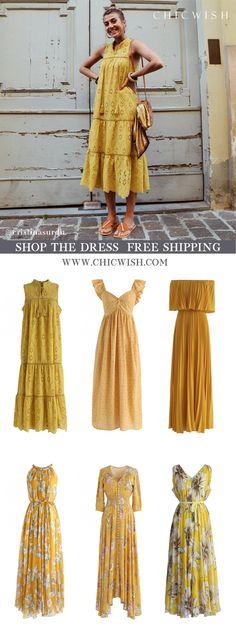 Maxi - Kleid - Retro, Indie and Unique Fashion Yellow Maxi Dress, Strapless Dress, Bodycon Dress, Led Dress, Fashion Brand, Womens Fashion, Maxi Robes, Vestidos Vintage, Retro Dress