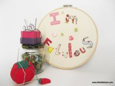 Textile illustration wall decor I'm fabulous wall by ThimbleHoop