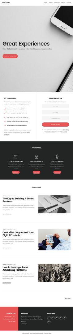 Theme Options Use options to get up and running in minutes and start customizing your new site with just a few clicks of the mouse. eCommerce This is a flexible eCommerce theme that is Social Advertising, Landing Page Design, Wordpress Theme, Ecommerce, Digital, E Commerce