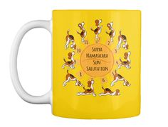 Beagle Doing Yoga Poses 14 Colors Lemon Yellow Mug Front Yellow Mugs, Lemon Yellow, Best Yoga, How To Do Yoga, Beagle, Yoga Poses, Just For You, Colors, Beagle Hound