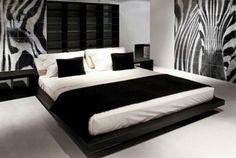 Zebra bedroom.. want this in our new house <3 Already have the zebra stuff going love the walls