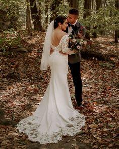 Wedding Dresses With Charm For Fall 2021 ❤ fall wedding dresses low back with long sleeves lace essenseofaustralia #weddingforward #wedding #bride #weddingoutfit #bridaloutfit #weddinggown