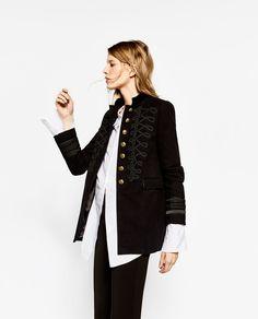 bb168c7909 VELVET MILITARY JACKET-BLAZERS-WOMAN | ZARA United States Military Jacket  Outfits, Military