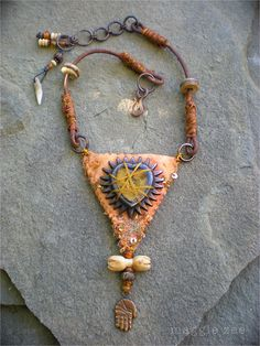The Captured Heart Protective Amulet Necklace by maggiezees