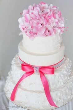 - Wedding Dress inspired cake