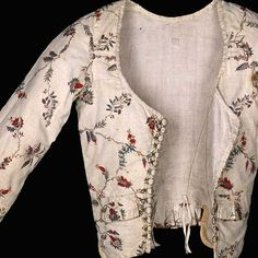 Ladies' jacket for everyday wear. Colonial Williamsburg's Museum Collection Online Exhibit. Note lacing rings at center fronts.