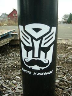 Graffiti Robots in disguise