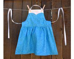 Frozen Elsa Dress Up Apron for Girls ~ Basic or Decorative  by OfMiceAndElves, $25.00