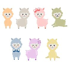 Cute Llama Pack Cuttable Design Cut File. Vector, Clipart, Digital Scrapbooking Download, Available in JPEG, PDF, EPS, DXF and SVG. Works with Cricut, Design Space, Cuts A Lot, Make the Cut!, Inkscape, CorelDraw, Adobe Illustrator, Silhouette Cameo, Brother ScanNCut and other software.