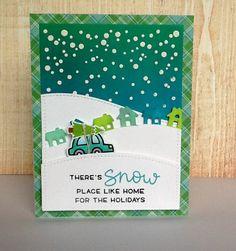 christmas car card - the Lawn Fawn blog: Fawny Flickr Friday {11.4.16}