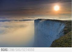 WORLD'S EDGE. Beachy Head is a chalk headland on the south coast of England, close to the town of Eastbourne in the county of East Sussex. Photograph by RHYS DAVIES.Pretty sure Ive been here actually. Oh The Places You'll Go, Places Around The World, Places To Travel, Places To Visit, Travel Destinations, Beautiful World, Beautiful Places, Amazing Places, Amazing Things