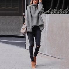 45 Perfecte winteroutfits voor inspiratie / 005 - Pullover - 45 Perfect winter outfits for inspiration / 005 - Pullover - outfits ideas Look Fashion, Autumn Fashion, Womens Fashion, Winter Fashion Women, Fashion Clothes, Latest Fashion, Tween Fashion, Fashion 2016, Cheap Fashion