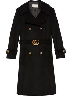 Gucci Coat, Burberry Trench Coat, Belted Coat, Jaket Winter, Gucci Double G Belt, Gucci Brand, Winter Fashion Outfits, Women's Fashion, Jacket Style