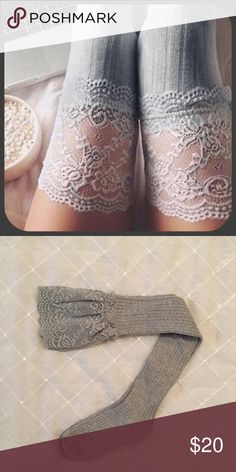 Lace Knee High Boot Socks These knee high lace Boot Socks are the perfect addition to your closet! Great to be styled all year round or can be your at home sexy bed piece! These are a MUST have! H&M Accessories Hosiery & Socks